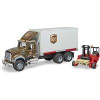 Bruder MACK Granite UPS mit Fahrer und Zubehör
