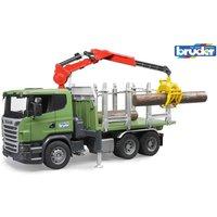 BRUDER Scania Holztransport-LKW