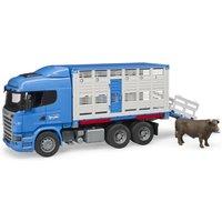 Bruder Scania R-Serie Tiertransport-LKW mit Tier
