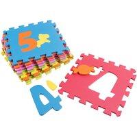 Puzzlematte mit Zahlen