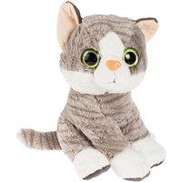 SMIKI Katze sitzend grau 32cm