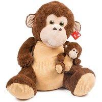 Affe mit Baby sitzend 80cm