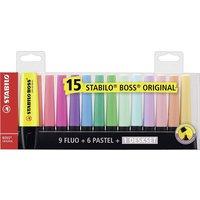 STABILO 15er-Pack Textmarker BOSS ORIGINAL