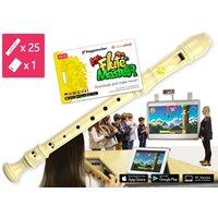 25-teilige Blockflötenkiste Flute Master 1