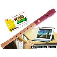 Flute Master mit Holz-Kunststoff Blockflöte