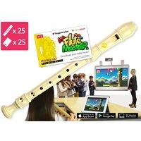 25-teilige Blockflötenkiste Flute Master 2