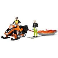 Snowmobil mit Fahrer und Akia
