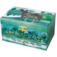 Spieldose mit Schmuckfach Pferd