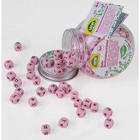 LENA Holz-Buchstabenwürfel pink
