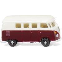 WIKING 093202 VW T1 Bus weinrot-weiß