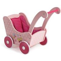 Holz Puppenwagen pink