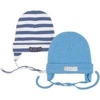 Baby Mütze zum Binden 2er Pack für Jungen