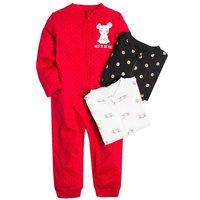 Baby Strampler 3er-Pack für Mädchen