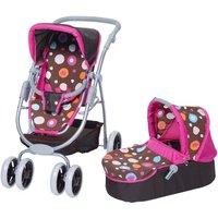 knorr toys Puppen-Kombiwagen Coco Brown Splash