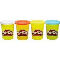 Play-Doh 4er Pack blau, gelb,rot und weiß