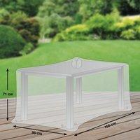 Schutzhaube Premium Polyester für rechteckige Gartentische