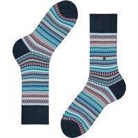 Digital Fair Isle Socks - Red Multi