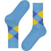 Manchester Mercerised Cotton Socks - Aqua/Yellow