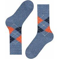 Tweed Argyle Men Socks - Blue Marl