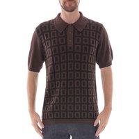 Jacquard-Grid-Knitted-Shirt-Truffle