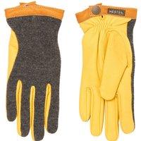 Yellow Deerskin Wool Tricot Gloves