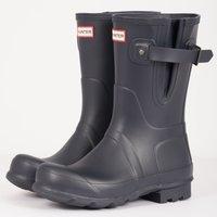 Side Adjustable Short Wellington Boots - Navy