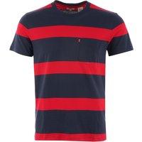 Sunset Pocket T-Shirt - Dress Blues & Lychee Stripe