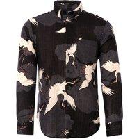 Japanese Crane Shirt - Black