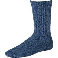 Cotton Rag Crew Boot Socks - Blue