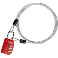 EAGLE CREEK Gepäckschloss 3-Dial TSA Lock® & Cable grau