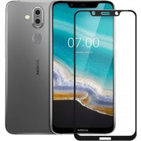 Generic Glas Schutzfolie für Nokia 8.1 - Schwarz