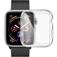 Generic Vollständige TPU Hülle für Apple Watch Series 4 44mm - Transparent