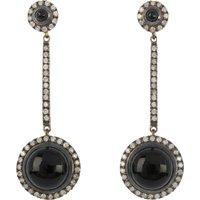 0.35ct Diamond & Onyx Drop Earrings
