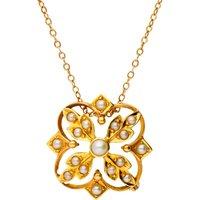Antique Victorian 15ct Gold Split Pearl Pendant & Brooch