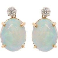 18ct Gold 6.00ct Opal & Diamond Earrings