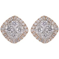 18ct Gold 0.65ct Diamond Cluster Earrings