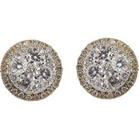 18ct Gold 0.80ct Diamond Cluster Earrings