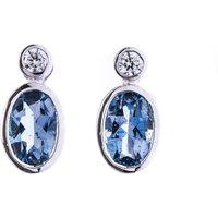 0.68ct Aquamarine & Diamond Earrings