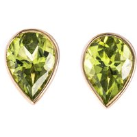 9ct Gold 1.50ct Peridot Solitaire Earrings