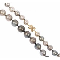 10.5mm - 14.5mm Grey Tahitian Pearl Necklace