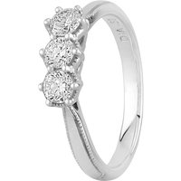 9ct White Gold 0.50ct Diamond Trilogy Ring J4255D-9W-050E M