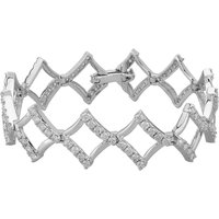 9ct White Gold 5.00ct Diamond Fancy Open Bracelet BR853W/500-10