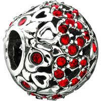 Chamilia Captured Heart Red Crystal Bead 2025-0681