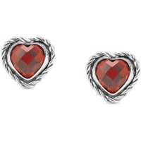 Nomination Hearts Red Cubic Zirconia Stud Earrings 027802/005