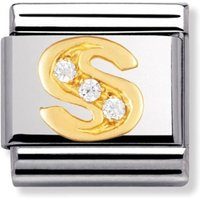 Image of Nomination CLASSIC Gold Letters Cubic Zirconia S Charm 030301/19
