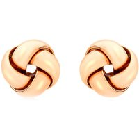 9ct Rose Gold Small Knot Stud Earrings 5.55.8379