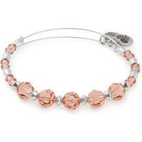 ALEX AND ANI Silver Pink Beaded Peony Bangle A18EBSW02SS