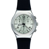 Image of Swatch Mens Neramente Chronograph Black Rubber Strap Watch YCS111C