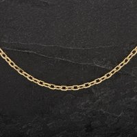Pre-Owned 9ct Yellow Gold 20 Inch Diamond Cut Belcher Chain