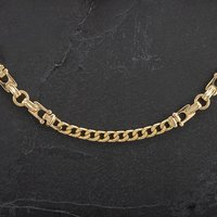 Pre-Owned 9ct Yellow Gold 17 Inch Fancy Curb Chain